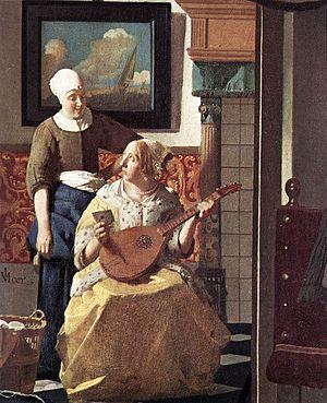 Johannes Vermeer - The Love Letter (detail) - ...