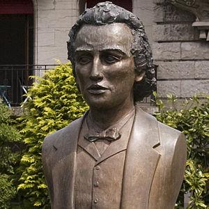 Română: Bustul lui Mihai Eminescu in Vevey (El...