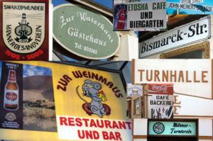 Deutsch: Beispiele deutscher Beschilderungen i...