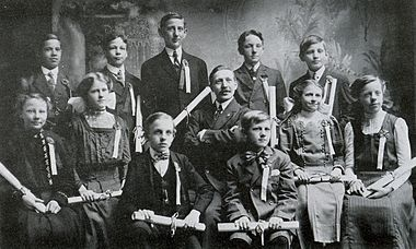 Graduation Party in 1910