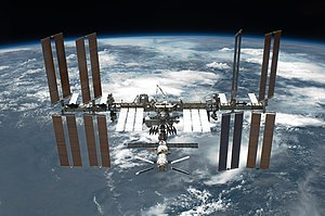 English: The International Space Station is fe...