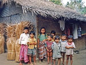 Sasak Village - islands of Lombok.