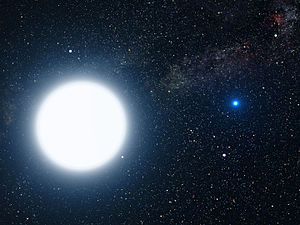 An artist's impression of Sirius A and Sirius ...