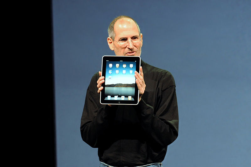 Steve Jobs introducing the IPad, photo courtesy of William Avery