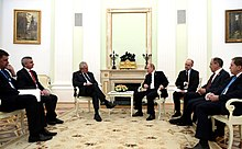 Zeman meets with Russian President Vladimir Putin in Moscow, 9 May 2015