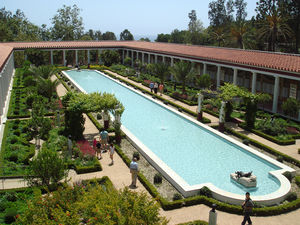 English: Gardens of the Getty Villa, Malibu