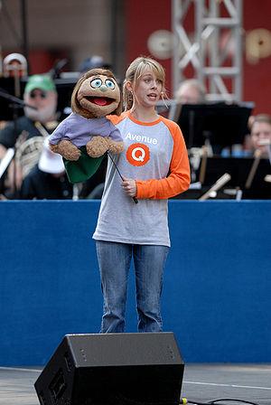 """The cast of Avenue Q performs """"It Sucks t..."""