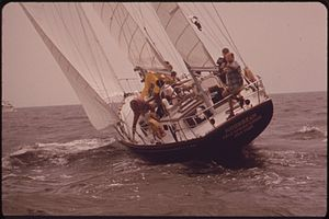 CONTENDER IN THE ANNAPOLIS-NEWPORT RACE ON CHE...