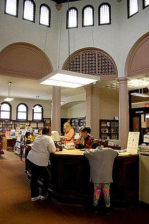 Carnegie library interior, Cincinnati, Ohio, U...
