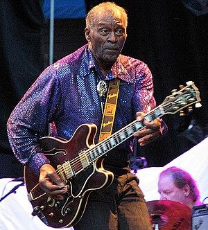 Chuck Berry in Brunnsparken, Örebro, Sweden.