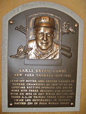 English: Plaque for New York Yankees Center Fi...