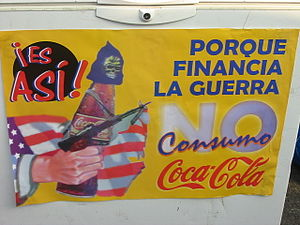 Poster against Coca-Cola for their killing of ...