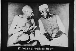 Gandhi and Nehru, Mumbai, July 6, 1946