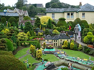 Godshill Model Village, including the scale mo...