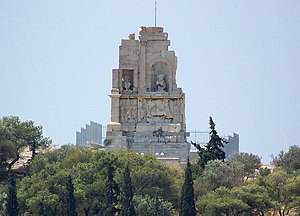 Philopappos monument in Athens, Greece