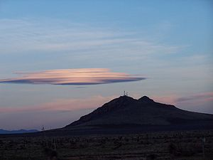 A lenticular cloud in New Mexico.