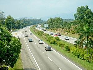 North-South Expressway towards Kuala Lumpur, S...