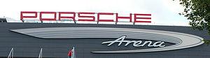 Logo der Porsche Arena in Stuttgart