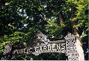 Entrance to the Public Gardens before Hurricane Juan