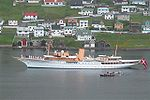Royal Danish ship Dannebrog in Vagur, Faroe Islands.jpg