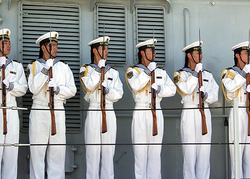 US Navy 060910-N-0879R-009 Sailors aboard the Chinese Navy destroyer Qingdao (DDG 113) prepare to depart Pearl Harbor