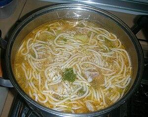 Clear Vietnamese noodle soup