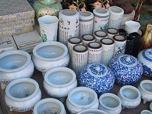 Islamic-themed porcelain sold by a Hui vendor ...