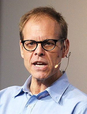 Alton Brown speaking at the Google Campus in M...