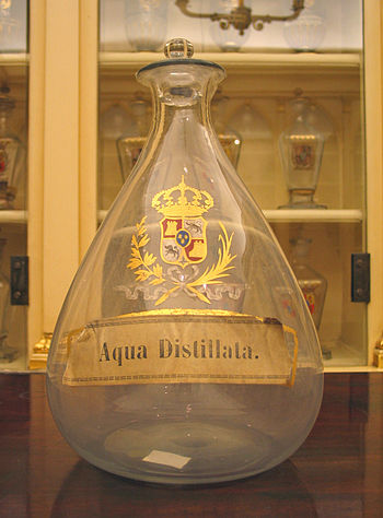'Aqua distillata' (Distilled water) in the Rea...