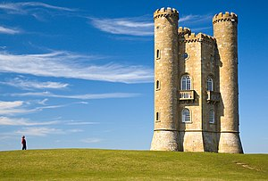 Broadway Tower, Cotswolds, England. Edited ver...