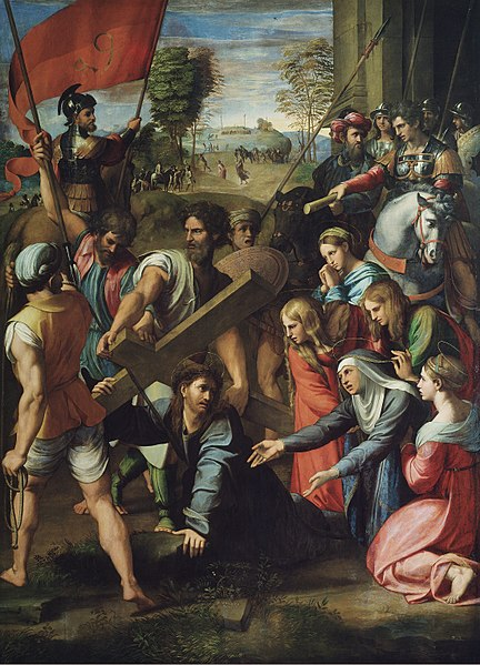 File:Christ Falling on the Way to Calvary - Raphael.jpg