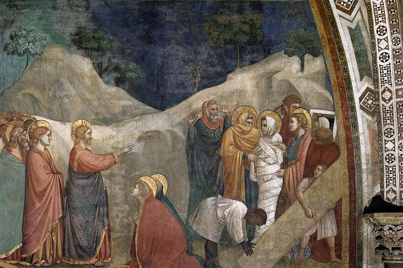 File:Giotto, Lower Church Assisi, Scenes from the Life of Mary Magdalene-Raising of Lazarus 01.jpg