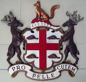 Hudson's Bay Company coat of arms, photographe...