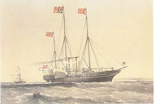 Painting of HMY Victoria and Albert II
