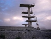 Diving platform on Graveyard Hill in Kabul fro...