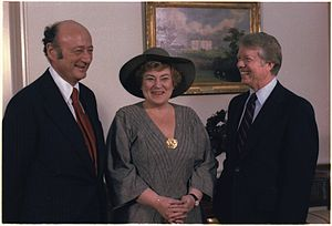 English: Mayor Ed Koch of New York, Congresswo...