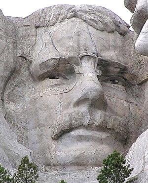 Mt. Rushmore, Theodore Roosevelt closeup.