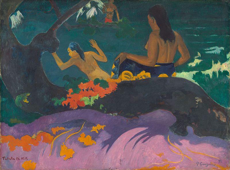 Paul Gauguin: Fatata te Miti, Tahití, 1892