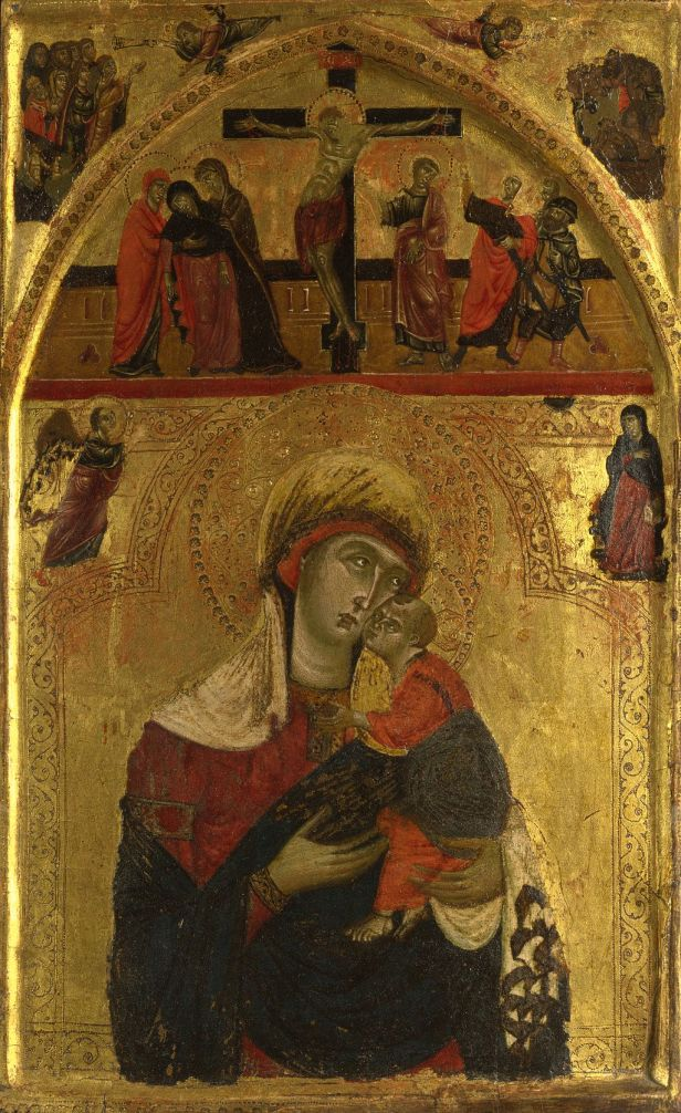 Rinaldo da Siena. The Virgin and Child, ca. 1265-75, National Gallery, London
