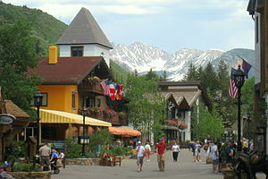Street view - Vail, Colorado, USA.