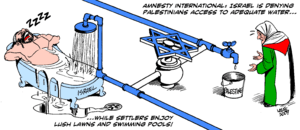 English: Israel curbing water Artist's Comment...