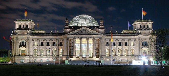 Berlin - Reichstag building at night - 2013