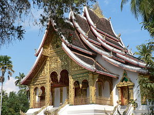 Buddhist temple at Royal Palace in Luang Praba...