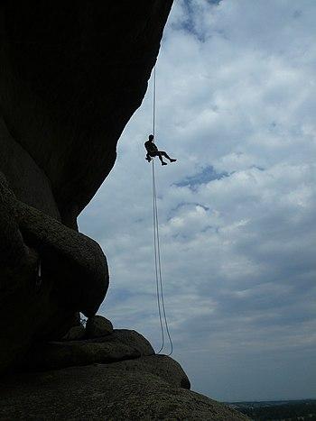 Climber in Vedauwoo