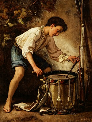 Drummer Boy (1857) by Thomas Couture, oil on c...