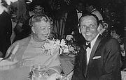 With Frank Sinatra in 1960