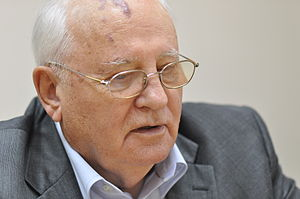 Soviet President Michael Sergeevich Gorbachev