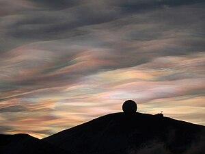 Nacreous Clouds over the NASA Radome, McMurdo ...