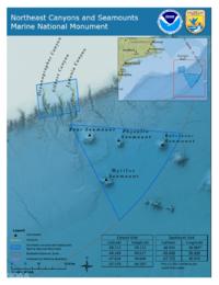 ノースイーストキャニオンズアンドシーマウントマリーンナショナルモニュメントの地図NOAA.png