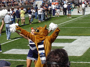 The Nittany Lion and a Penn State cheerleader ...